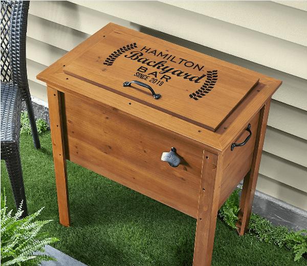 Backyard Bar Wooden Beverage Cooler