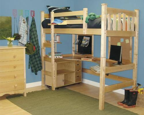 DIY Project: How to Make a Loft Bed for Your Dorm Room : HomeJelly