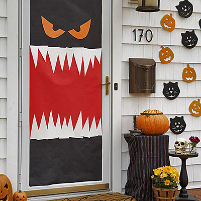 halloween door decor enter if you dare homejelly