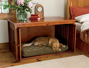 Weekend DIY Project How To Make Side Tables Into Dog Beds