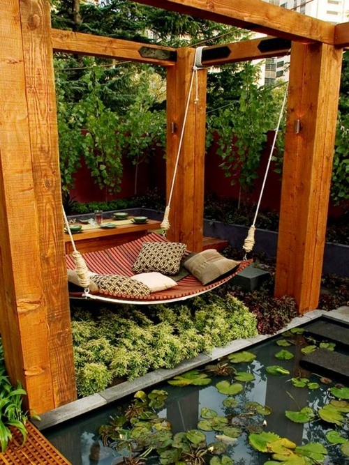 Outstanding outdoor hangouts homejelly - How to make hammock at home ...