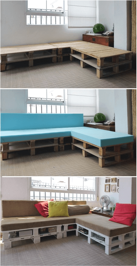 DIY Project Pallet Sofa Makes For 5 Star Naps HomeJelly