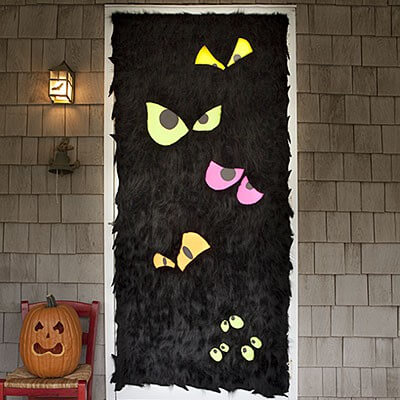 Fuzzy monsters door decor. Photo and how-to allyou.com & Silly Monster Door Decor : HomeJelly