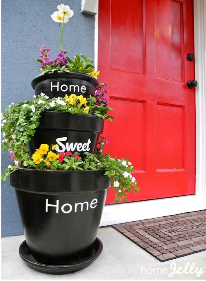 Stacked Planters For Your Home Sweet Home Homejelly