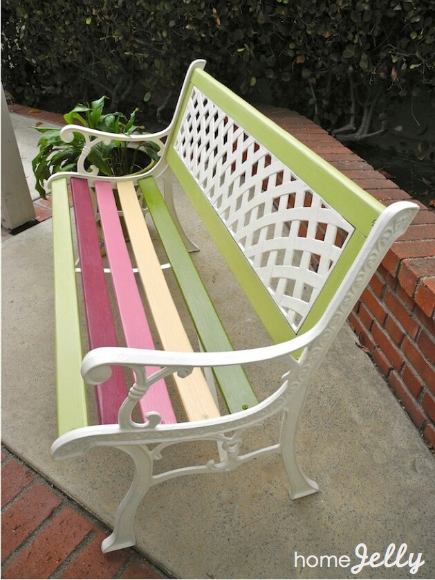 Weekend Diy Project Wow Up An Old Park Bench Homejelly