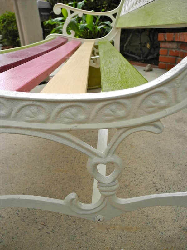Side bench heart detail