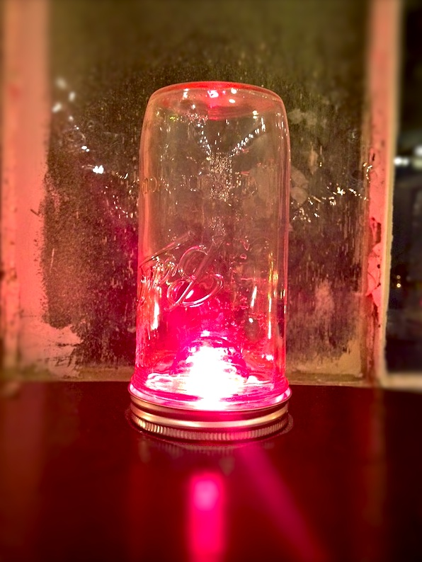 Jelly jar fuchsia light