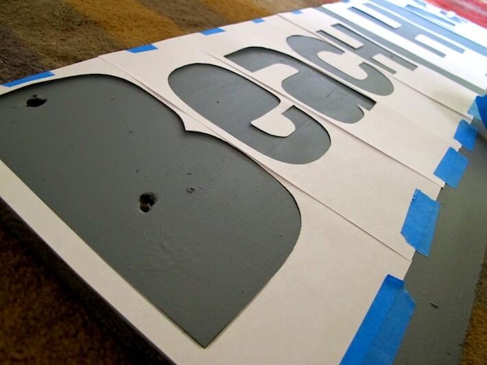 Tape on lettering