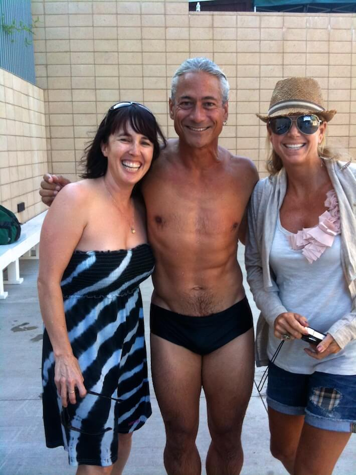Skaie Knox, Greg Louganis, Bridget Johnson