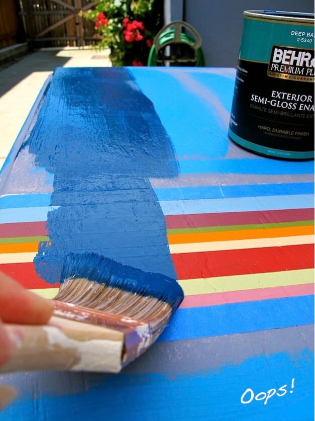 Apply last layer…don't paint over custom lines. Oops!