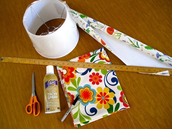 How to make a lamp shade with peek a boo flair homejelly lamp shade supplies aloadofball Choice Image