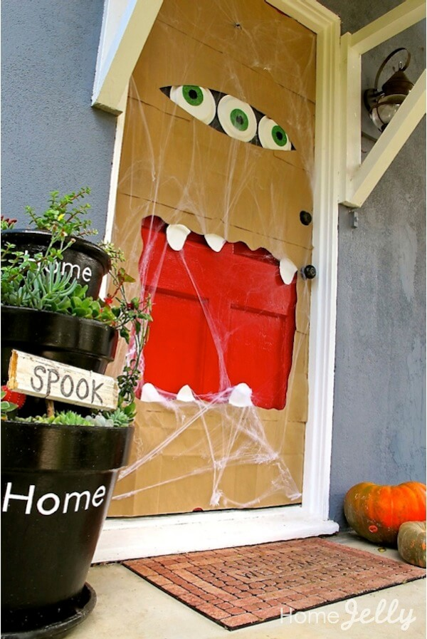 How To Make A Halloween Paper Bag Door Monster Homejelly