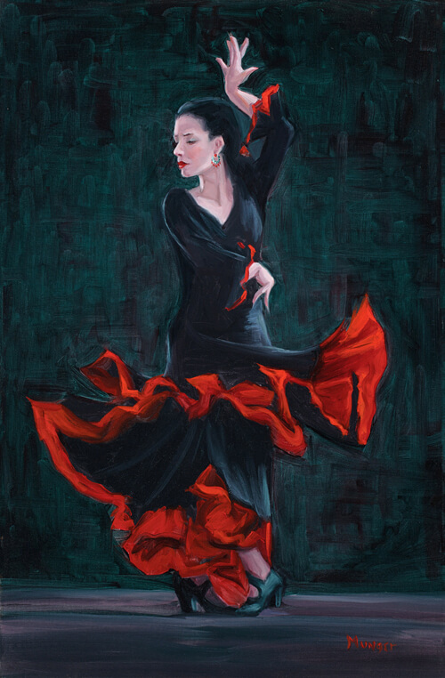 """Lady in Black"" by Roseann Munger"