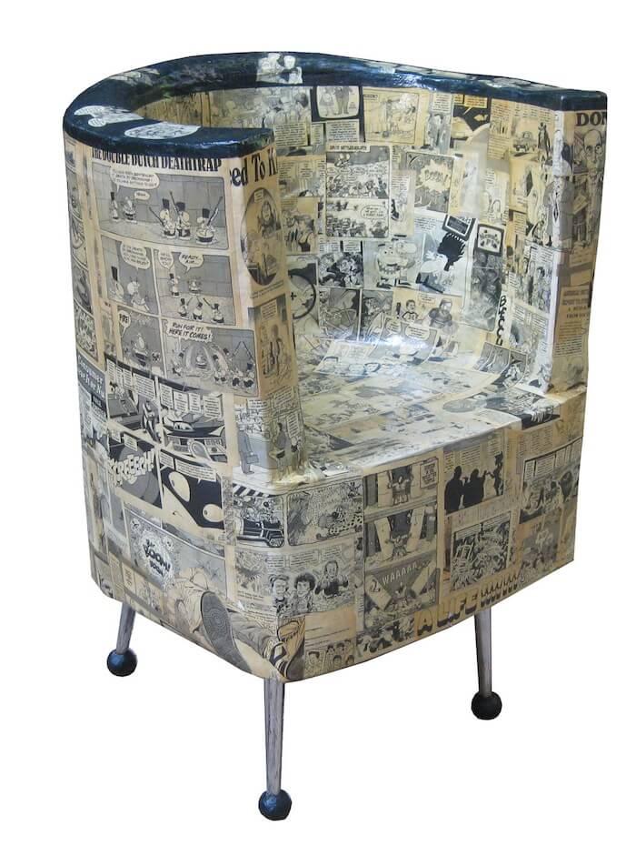 Paper mache papier mache and paper on pinterest for Paper mache furniture ideas
