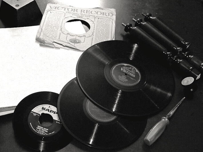 1 - Record Repurpose Supplies B&W