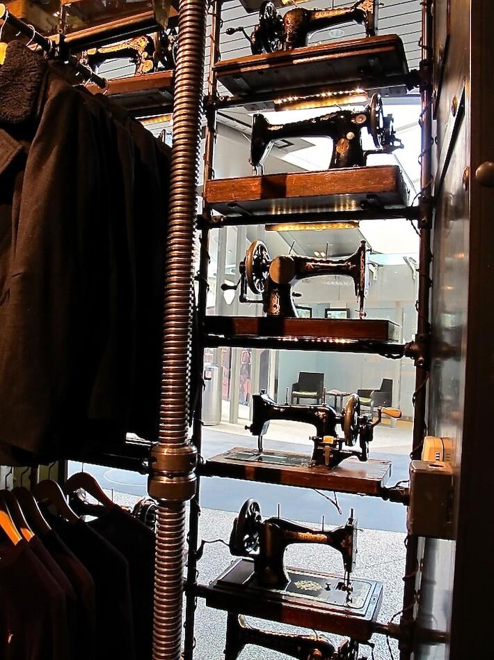 Repurposed Singer Sewing Machine Display Allsaints Co Ltd Homejelly