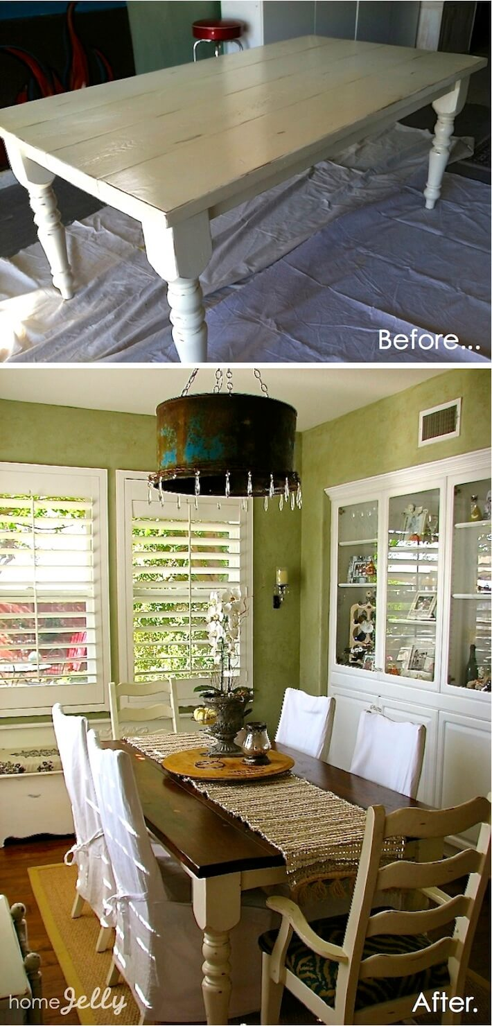 Table Makeover Before & After