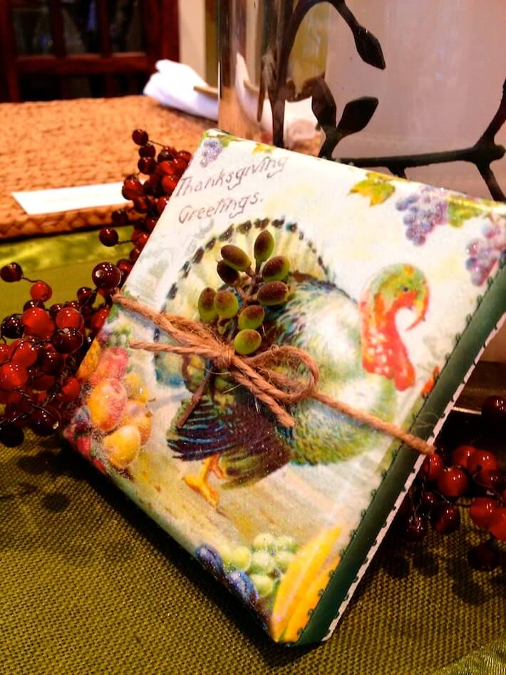 Thanksgiving canvas hostess gift