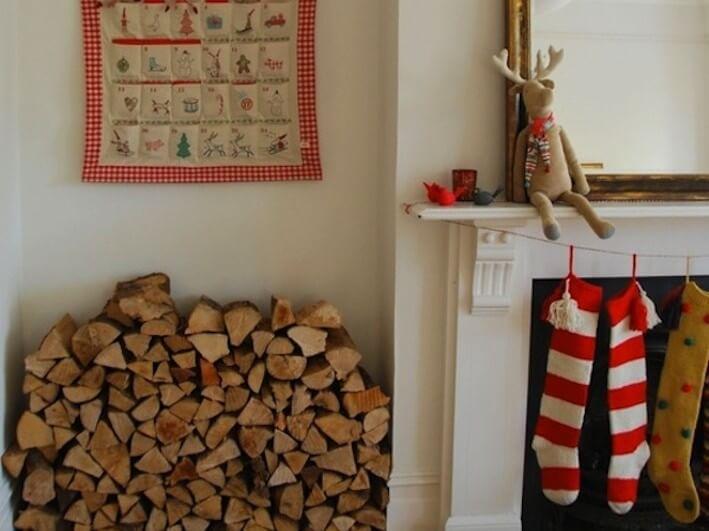 Scandinavian style fireplace