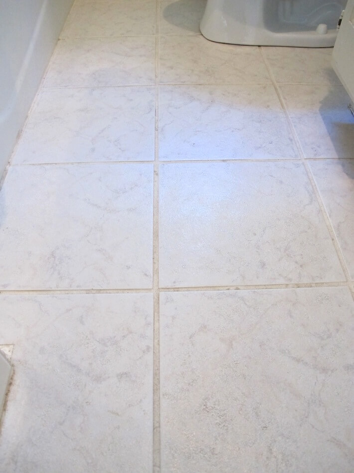 Bathroom tile after, too