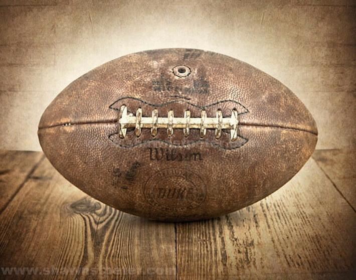 Vintage football print