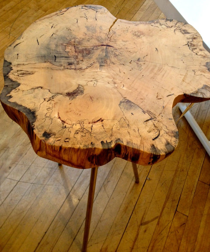 Tree stump accent table