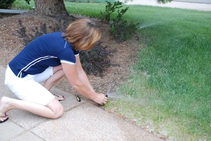Don't sprinkle the sidewalk