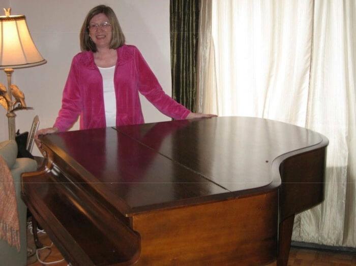Baby Grand Piano, before