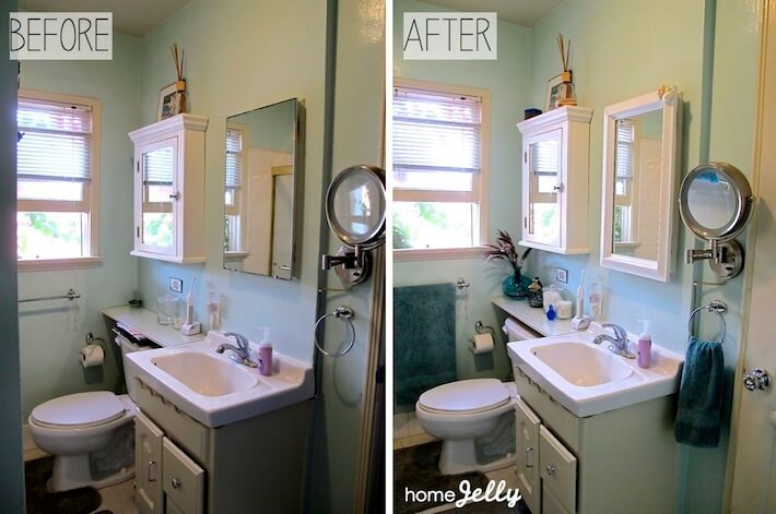 diy tips to a bathroom mini makeover homejelly