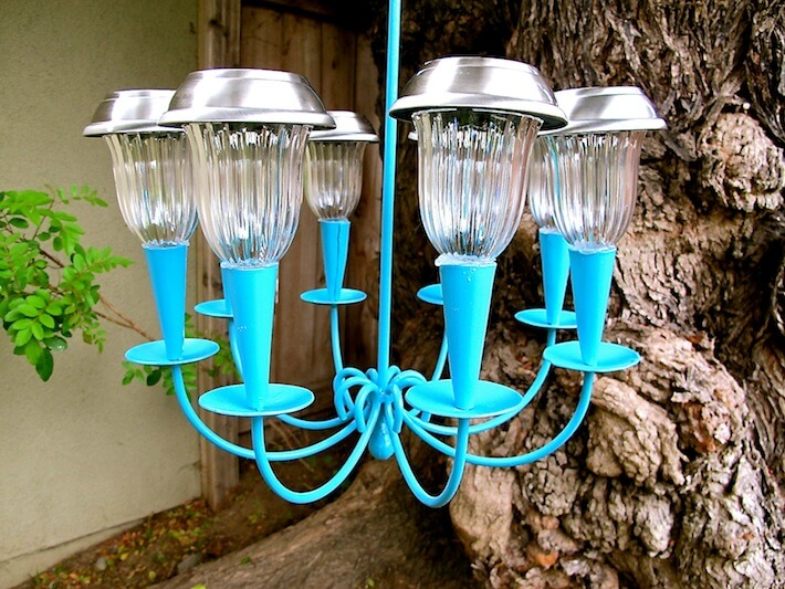 How To Make A Solar Light Chandelier : HomeJelly