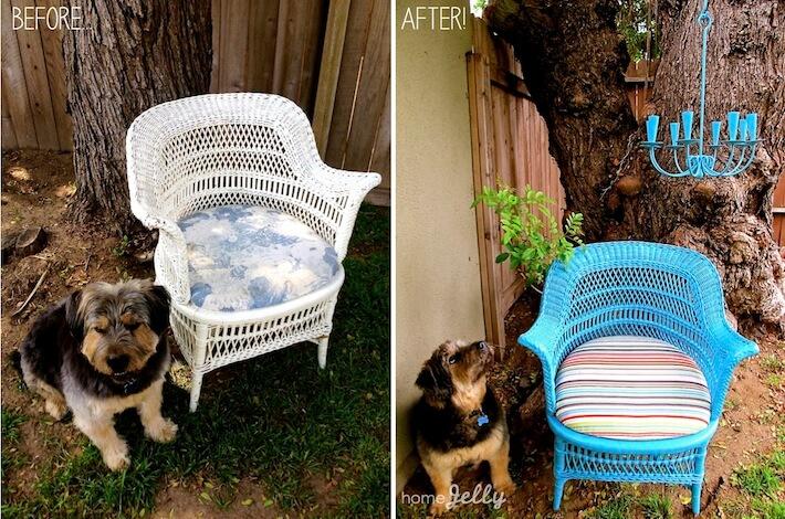 Vintage Modern Wicker Chair  before   afterVintage Meets Modern In A Refurbished Heirloom Wicker Chair  . Modern Wicker Chair. Home Design Ideas