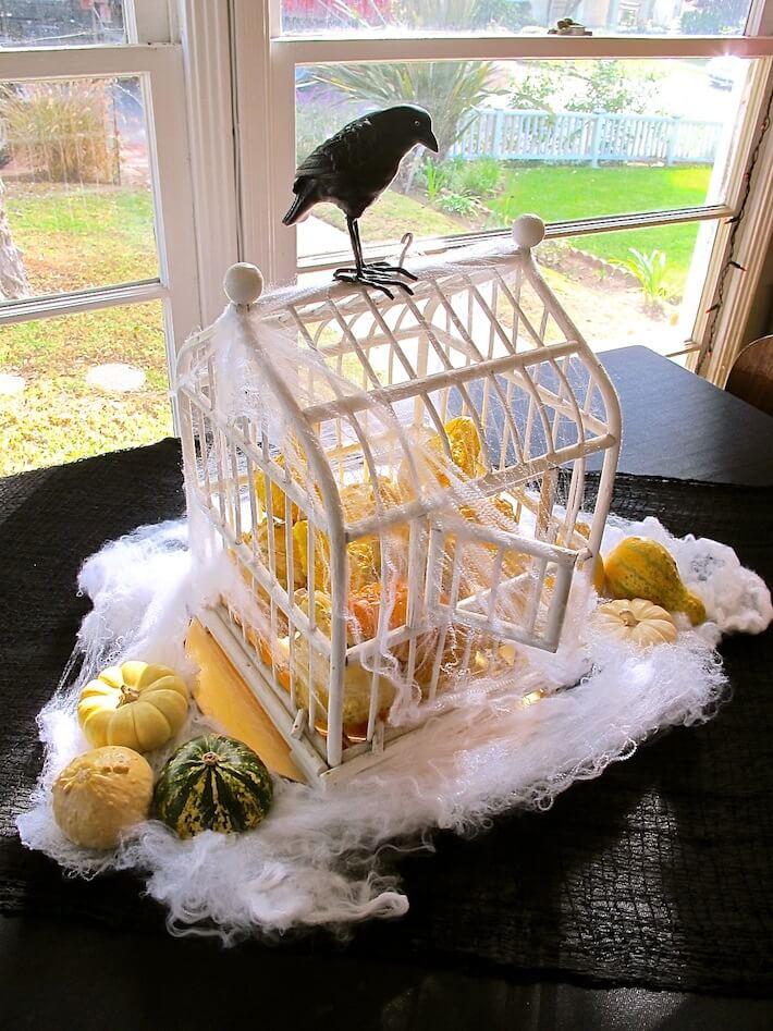 Bird cage Halloween centerpiece