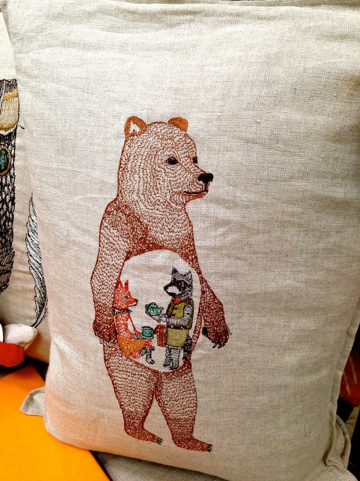 "Coral & Tusk ""Hungry Bear"" pillow"