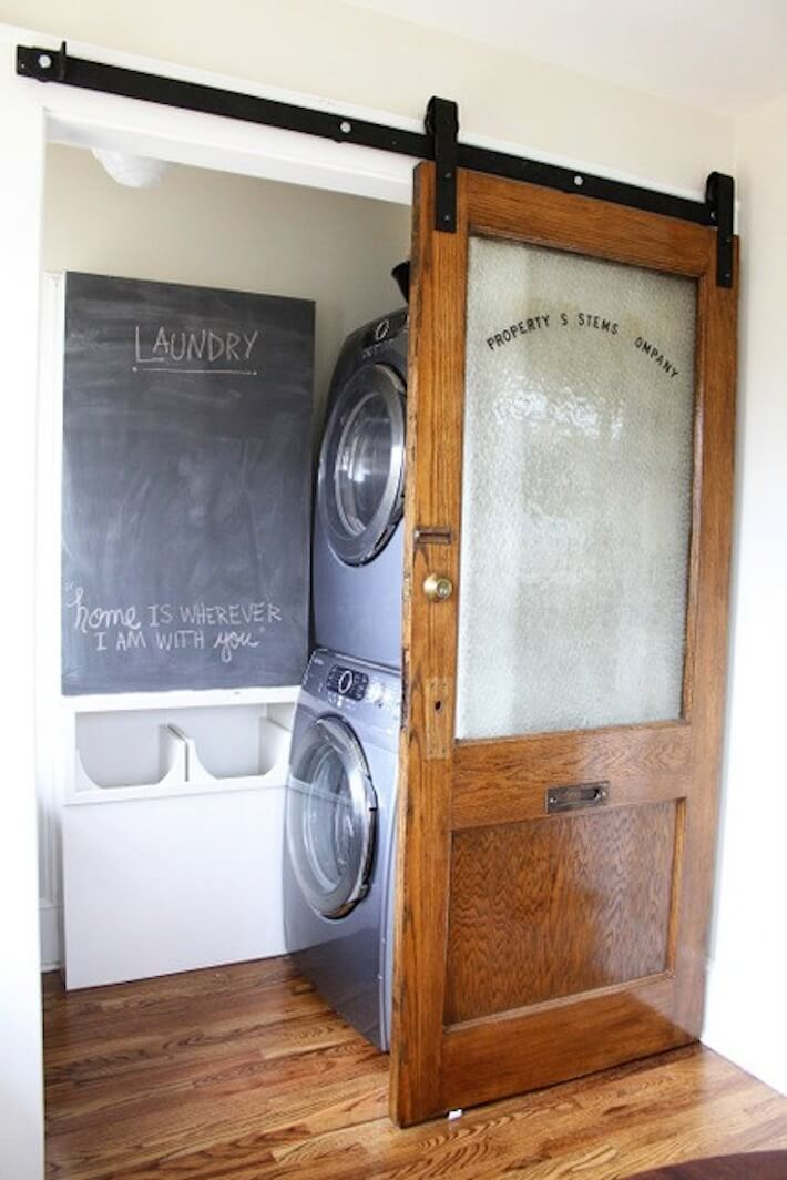 Laundry Room with Sliding Door 710 x 1064