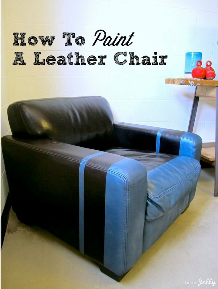 how to paint a leather chair with flair homejelly. Black Bedroom Furniture Sets. Home Design Ideas
