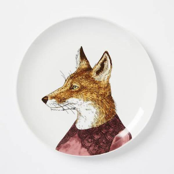 Fox salad plate