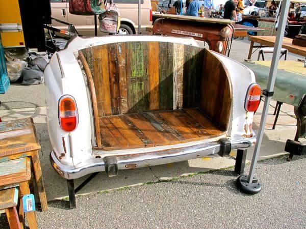 Vintage car bench