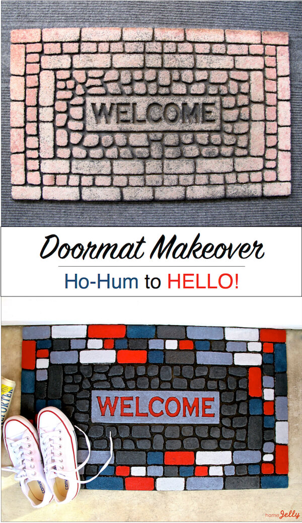 Doormat makeover...ho-hum to HELLO!