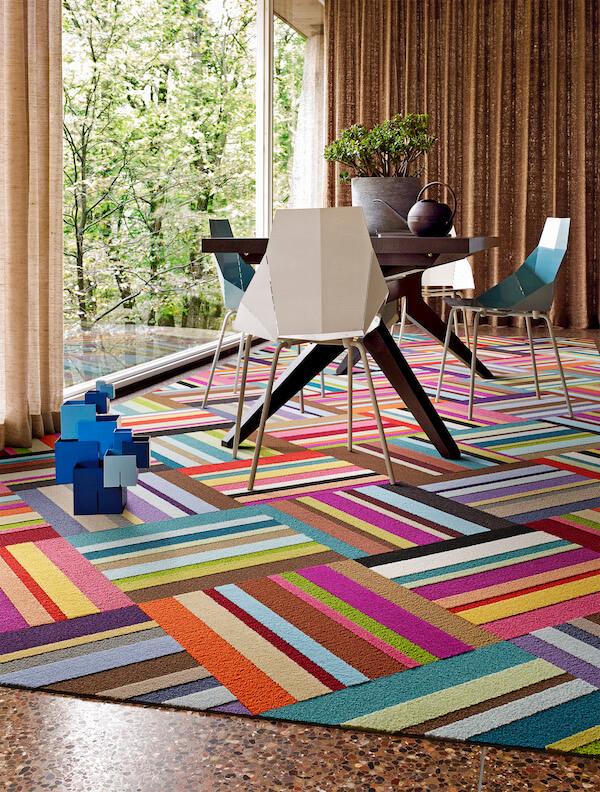 FLOR Carpet Tiles Make Office Lounge Space Wonderful