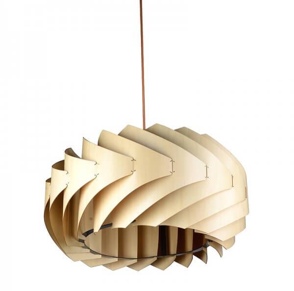 Modern Style Vortex Shape Wooden Pendant Light