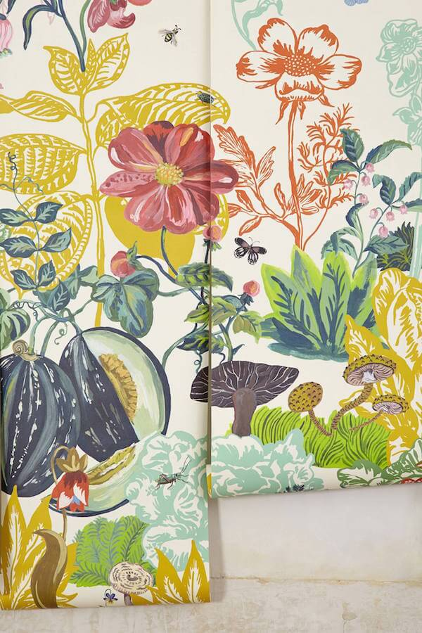 Wallpaper ain t for wussies homejelly for Anthropologie mural wallpaper
