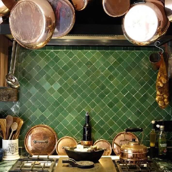 Kitchen With Moroccan Tile Backsplash