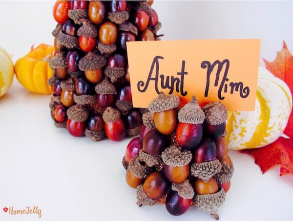 Autumn acorn place card holder finished!