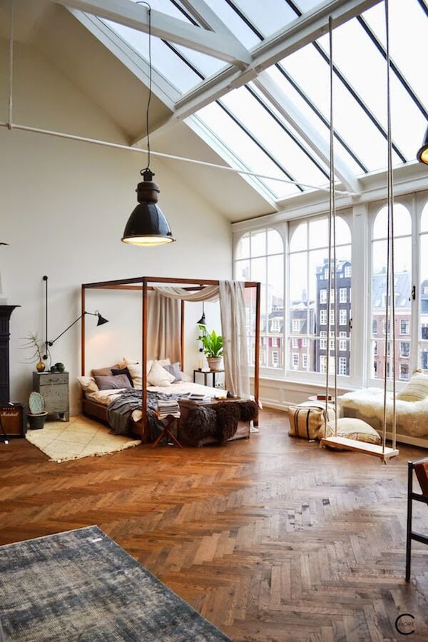 The Loft in Amsterdam that's boho modern