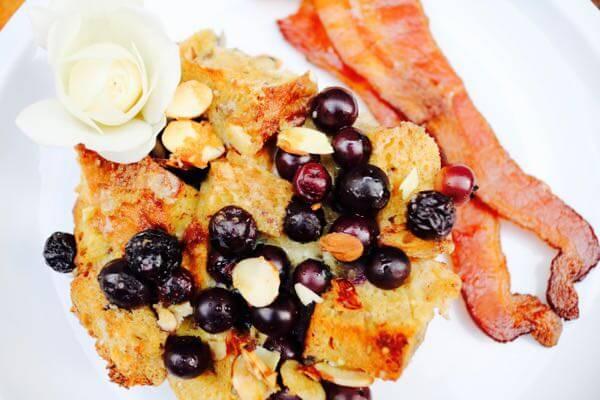 Blueberry Almond French Toast Bake