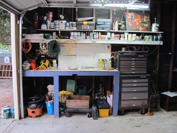 My garage workshop before