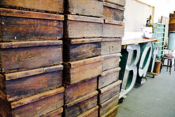 Salvaged wooden wine crates - with so much repurposing possibilities! copy