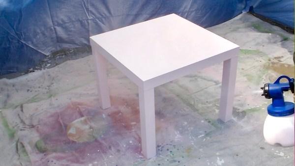 Apply 2 coats of latex paint