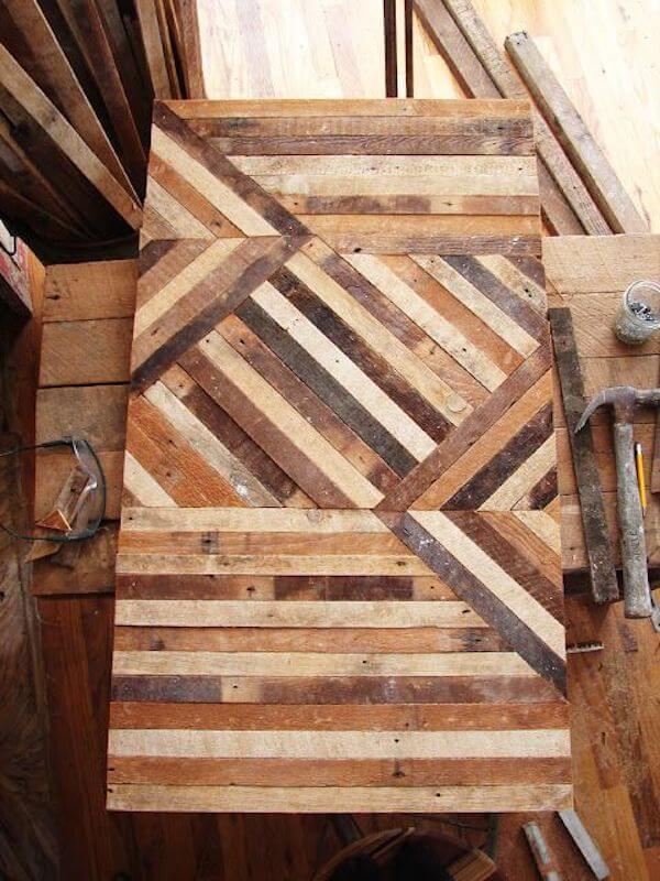Wood batten tabletop