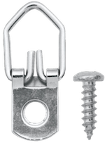 20 lb. Zinc Plated Narrow D-Ring Hangers with Screws (3-Pack)